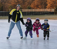 Jan and kids on ice