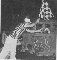 Half-and-Half with Checkered Flag